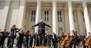 Lietuvoje suskambo muzika: šalis dėkoja už kovą su koronavirusu (nuotr. Justinas Auškelis/Fotodiena)