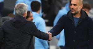 Jose Mouriho ir Josepas Guardiola. (nuotr. SCANPIX)
