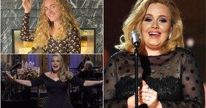 Adele triumfuodama grįžo į eterį vesti JAV šeštadienio vakaro TV laidos  (nuotr. Instagram)