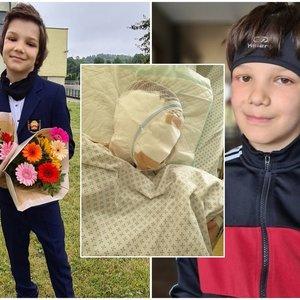 Be gailesčio šuns sukandžiotas 9-metis kenčia tragiškas pasekmes: mama nesulaiko ašarų