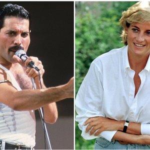 """Istorija, kuria tiki ne visi: kas iš tiesų siejo """"Queen"""" lyderį Mercury ir princesę Dianą?"""