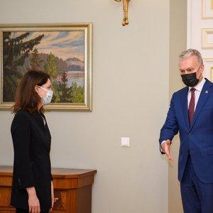 Pirmoji kandidatė į ministrus jau susitiko su Nausėda: pasakė, ką darys su vaiko pinigais ir pensijomis