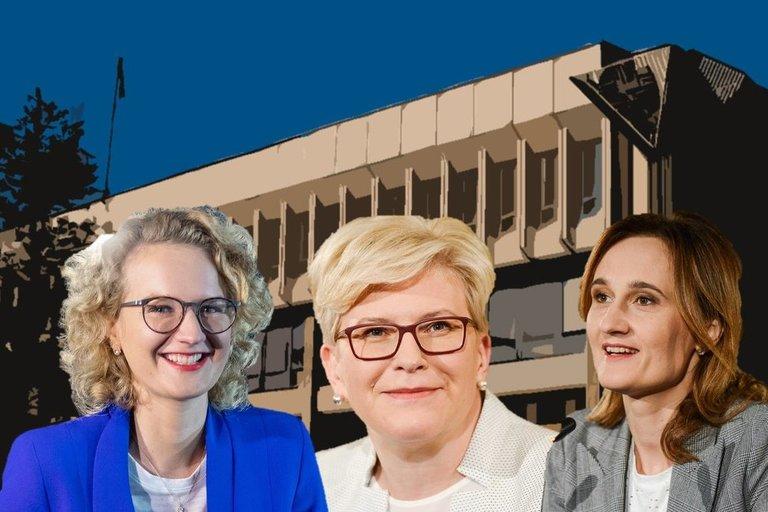 A. Armonaitė, I. Šimonytė ir V. Čmilytė-Nielsen (tv3.lt fotomontažas)