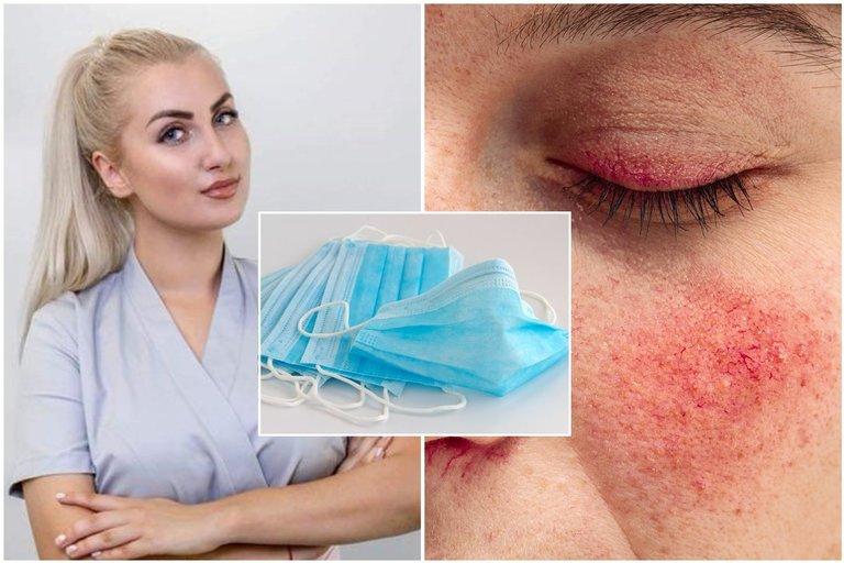 Ekspertė perspėja dėl veido kaukių žalos  (tv3.lt fotomontažas)
