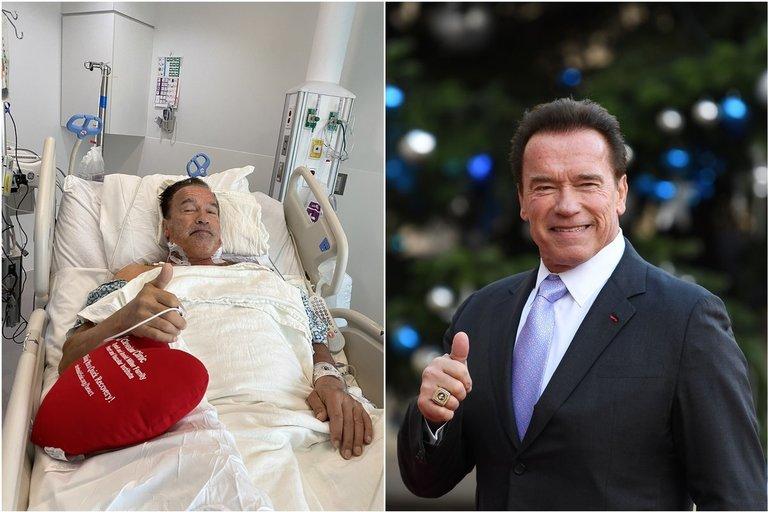 Arnoldui Schwarzeneggeriui atlikta širdies operacija (nuotr. Twitter)