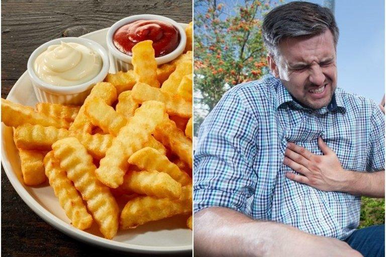 Dažnas greito maisto valgymas gali sukelti širdies ir kraujagyslių ligas (nuotr. 123rf.com)