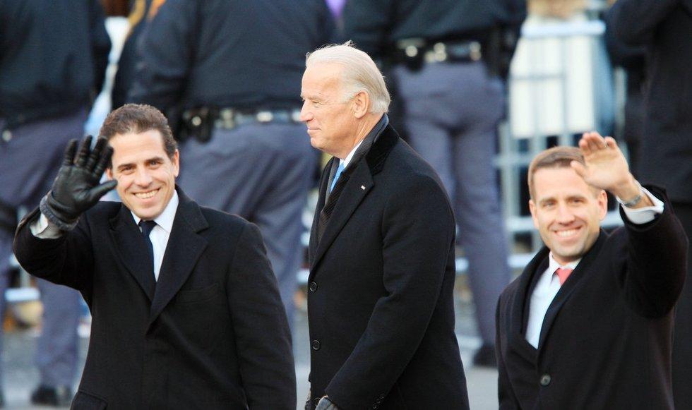 Joe Biden su sūnumis Hunter ir Beau