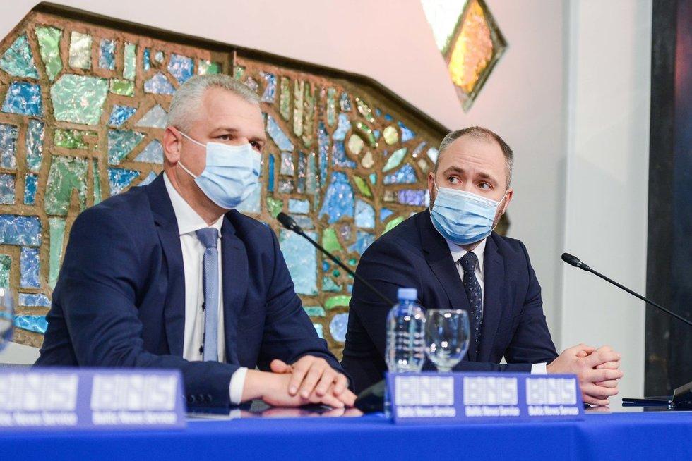 Rytas po rinkimų – Darbo partijos spaudos konferencija (nuotr. Justinas Auškelis/Fotodiena)