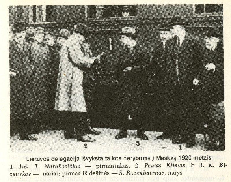 Lietuvos delegacija išvyksta į Maskvą pasirašyti taikos sutarties
