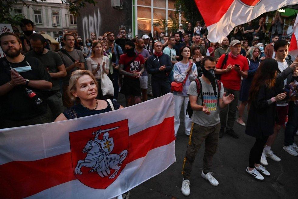Baltarusijos milicija ruošiasi protestų nakčiai (nuotr. SCANPIX)