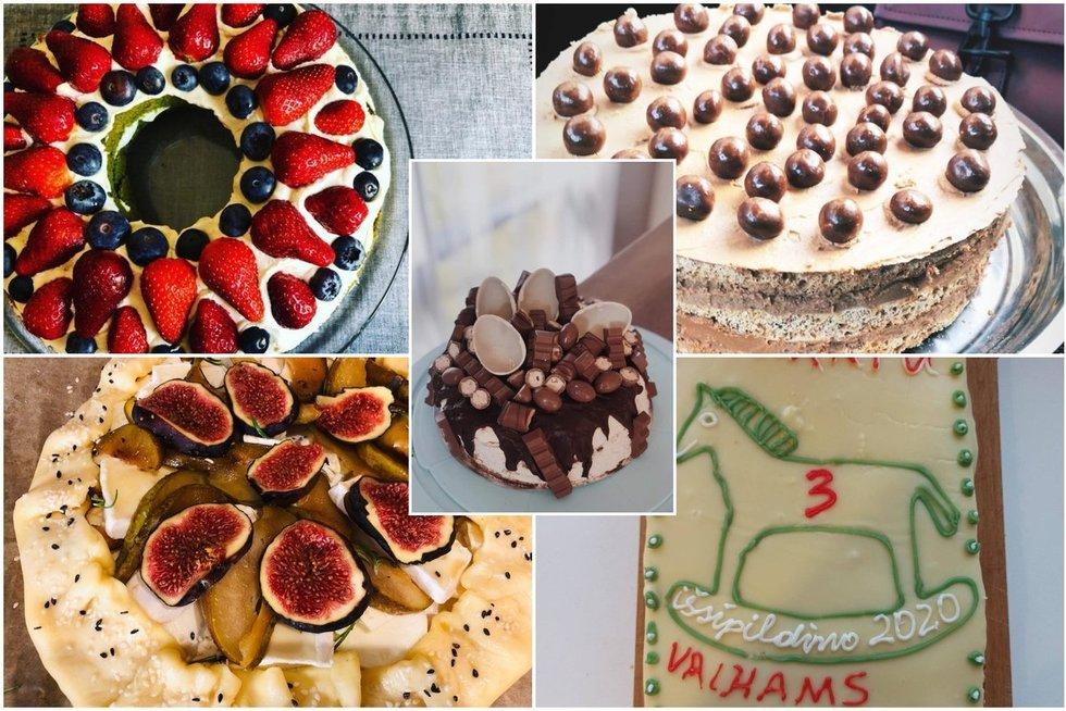 TV3 darbuotojų kepti pyragai  (nuotr. facebook.com)