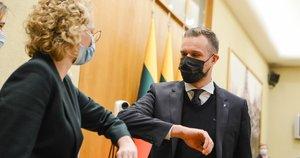 Aušrinė Armonaitė ir Gabrielius Landsbergis (nuotr. Fotodiena/Justino Auškelio)
