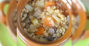 Perlinių kruopų troškinys su mėsa (Nuotr. Rasos virtuvės užrašai)