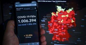 Vokietijoje penktadienį buvo užfiksuota daugiau nei 1 mln. susirgusiųjų (nuotr. SCANPIX)