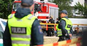 Vilniuje užminuotas moters automobilis (nuotr. Broniaus Jablonsko)