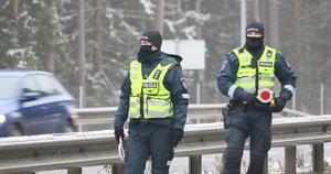 Policijos postas Nemenčinėje (nuotr. Broniaus Jablonsko)