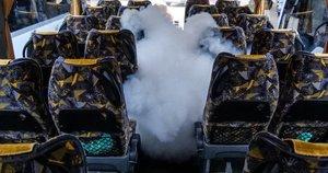 Autobusai yra kruopščiai dezinfekuojami (nuotr. Organizatorių)