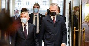 Gitanas Nausėda ir Viktoras Pranckietis (nuotr. Fotodiena/Justino Auškelio)