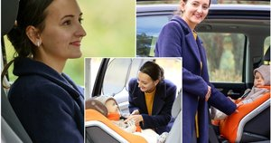 Dukart išrinkta geriausia Lietuvos vairuotoja pasidalijo patarimais, kaip vežti vaikus automobilyje (tv3.lt fotomontažas)