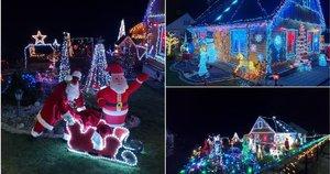 Jonuškų kieme tūkstančiai kalėdinių lempučių