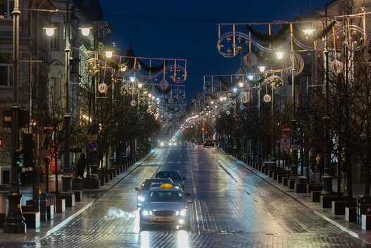 Žiema atkeliauja į Lietuvą (nuotr. Fotodiena/Justino Auškelio)