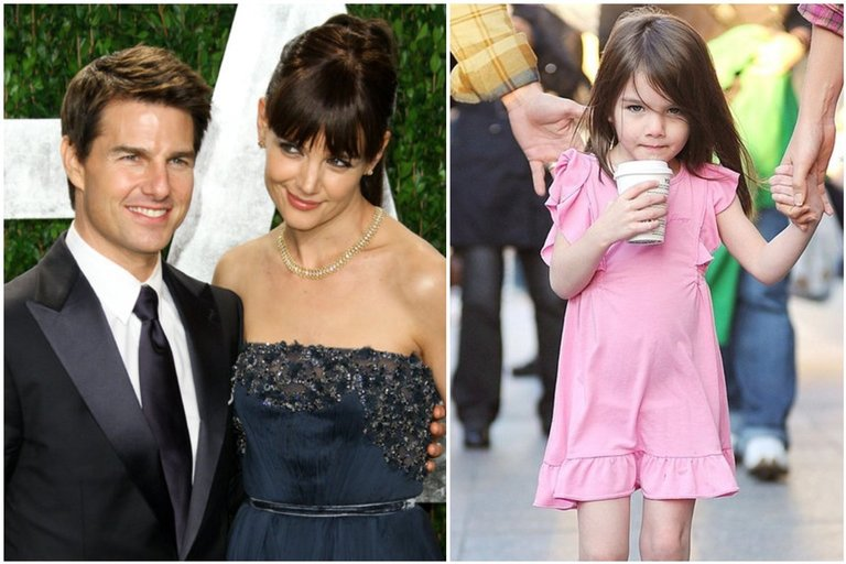 Tom Cruise, Katie Holmes, Suri Cruise (tv3.lt fotomontažas)