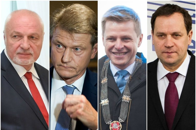 V. Mazuronis, R. Paksas, R. Šimašius, V. Tomaševskis (tv3.lt fotomontažas)