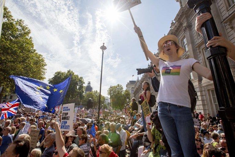 Protestai Anglijoje (nuotr. SCANPIX)