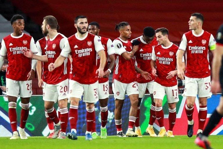 """""""Arsenal"""" šventė užtikrintą pergalę (nuotr. SCANPIX)"""