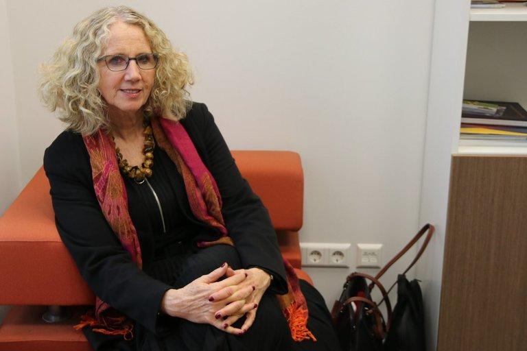 Levinsky edukologijos instituto Tel Avive, Izraelyje, rektorė prof. dr. Yael Kimhi apie autizmo spektro sutrikimą turinčių vaikų ugdymą pasakojo studentams, dėstytojams ir specialistams. Sigitos Inčiūrienės nuotr.