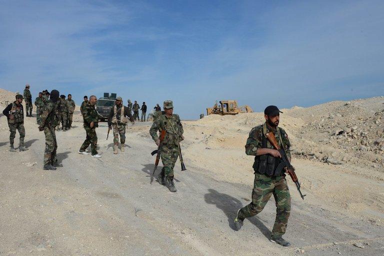 Sirijos kariuomenė (nuotr. SCANPIX)