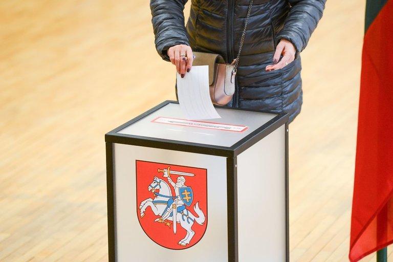 Rinkėjai balsuoja antrame Seimo rinkimų ture