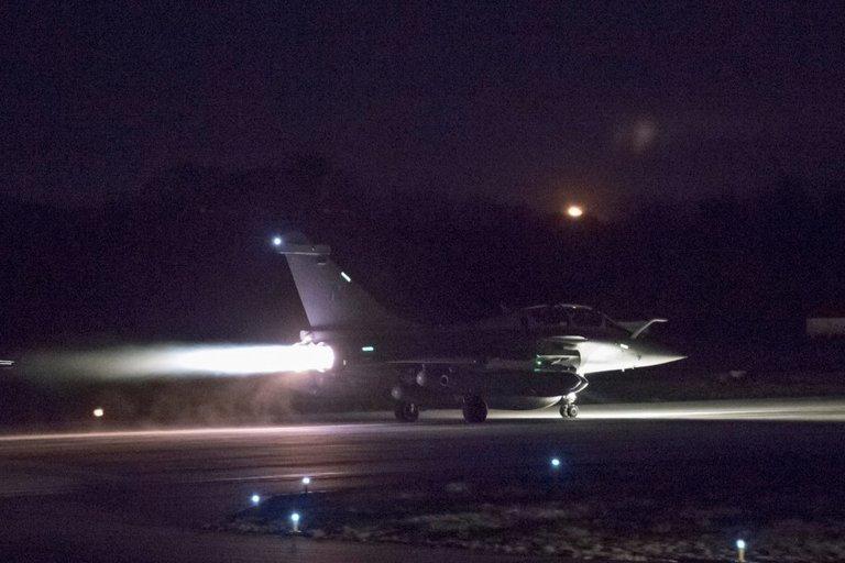 JAV ir sąjungininkių smūgis Sirijai (nuotr. SCANPIX)