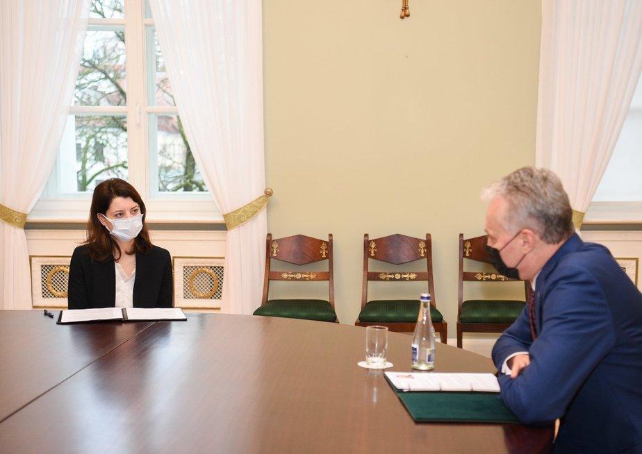Kandidatė į ministres M. Navickienė susitiko su prezidentu