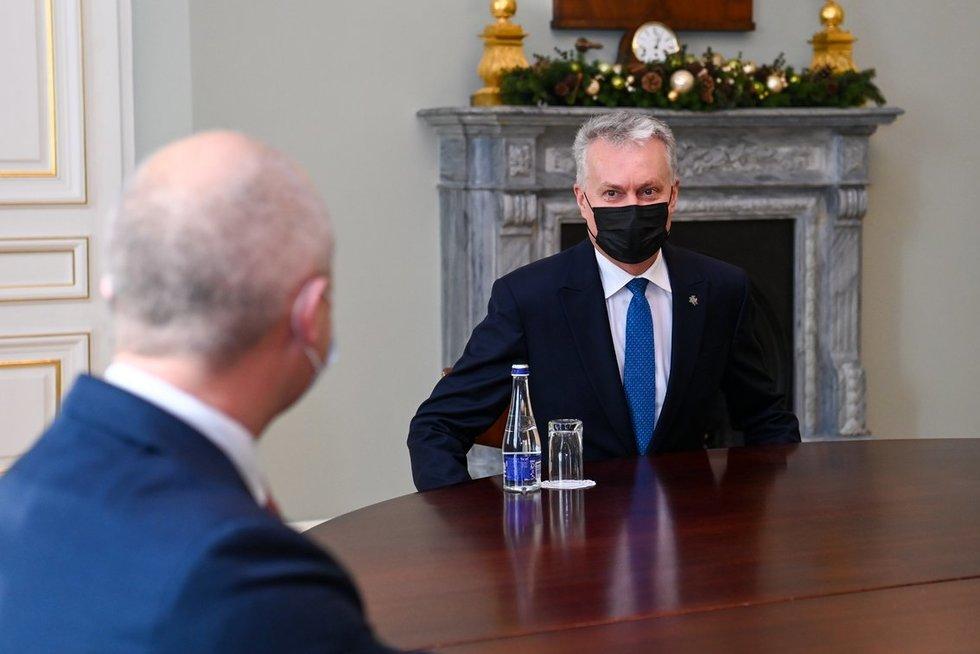 G. Nausėda susitiko su S. Gentvilu (nuotr. Roberto Dačkaus)