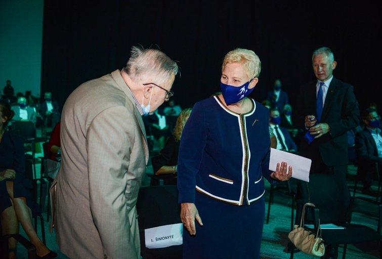 Vytautas Landsbergis. Irena Degutienė (nuotr. Fotodiena/Viltės Domkutės)