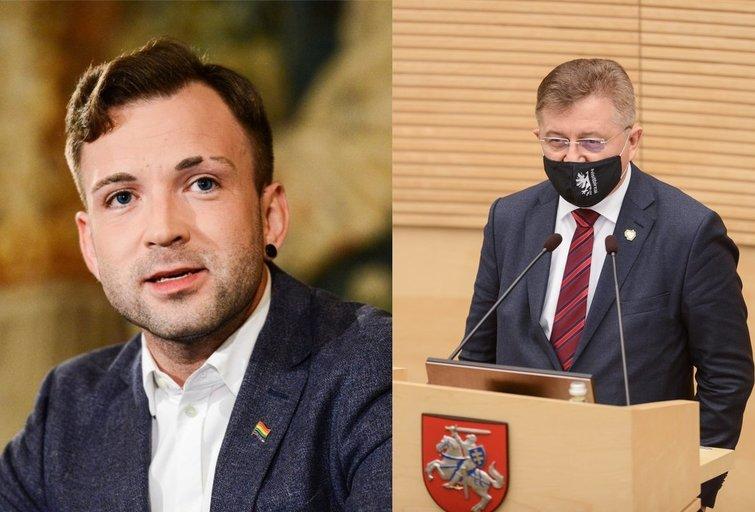 T. V. Raskevičius ir V. Valkiūnas (tv3.lt fotomontažas)