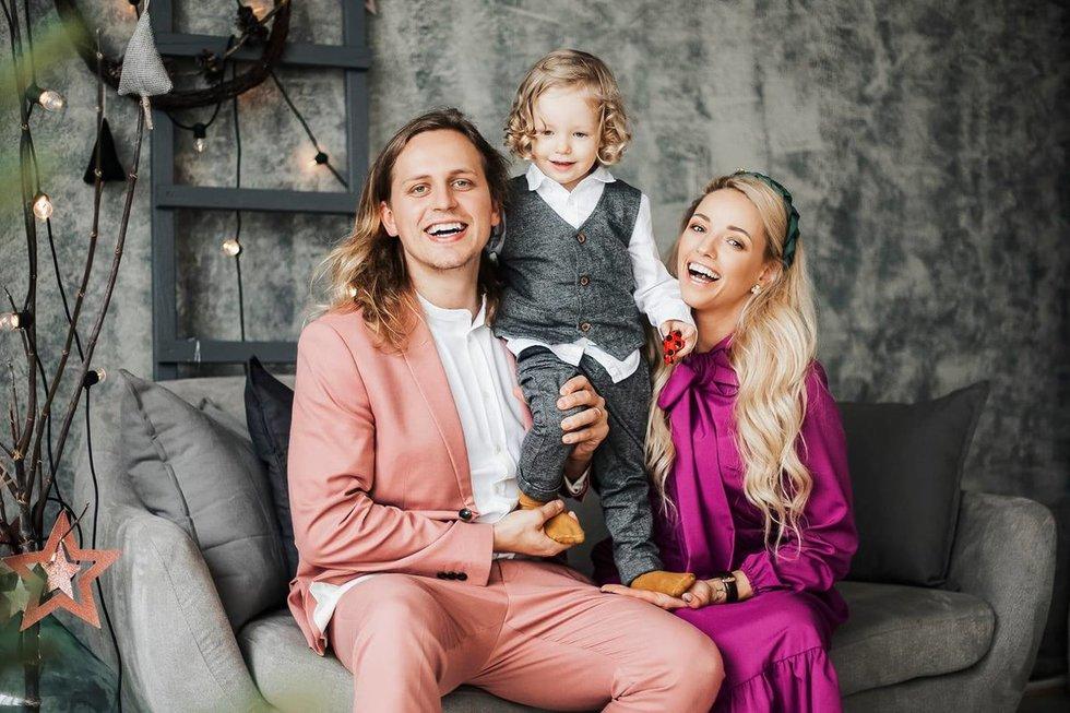 Anžela ir Žygimantas Gečai su sūnumi