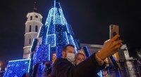 Vilniaus miesto Kalėdų eglė (nuotr. Fotodiena/Justino Auškelio)