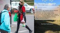 Gyventojai į telefonus gauna skubius įspėjimus apie pratęstą karantiną (tv3.lt koliažas)