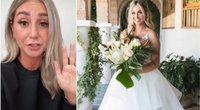Moteris teigia, kad jos išsvajotas vestuves sugadino ne į savo reikalus besikišanti uošvė – jaunikį ji privertė nuotaką palikti kitą dieną po vestuvių (Nuotr. Tik Tok)