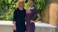 Indrė Burlinskaitė su mama (nuotr. facebook.com)