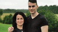 Kvetkietė Jurgita Januševičė, su šeima gyvenanti Norvegijoje,  savo sūnų Ugnių išleido į Lietuvą savanoriu tarnauti kariuomenėje (nuotr. Šiaurės rytai)