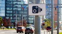 Kelio ženklas, įspėjantis apie greičio matuoklį (Fotobankas)