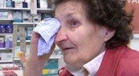 TV3 Žinios. Vilnietė Valerija susigraudino sužinojusi, kad dalį vaistų gaus nemokamai (nuotr. stop kadras)