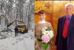 Politiko Aloyzo Sakalo žmona praneša, kad dėl sniego atsidūrė labai pavojingoje situacijoje: lieka tik melstis