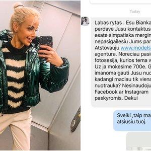 Boksininko Petrausko žmona susidūrė su sukčiais: siūlė fotosesiją su apatiniais už 700 eurų