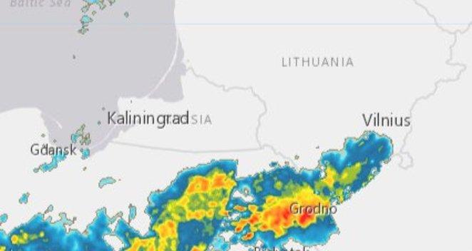 Link Lietuvos artėja stipri audra