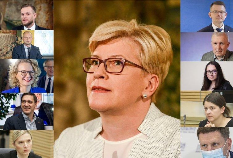 I. Šimonytė paviešino kandidatų į ministrus pavardes (tv3.lt fotomontažas)