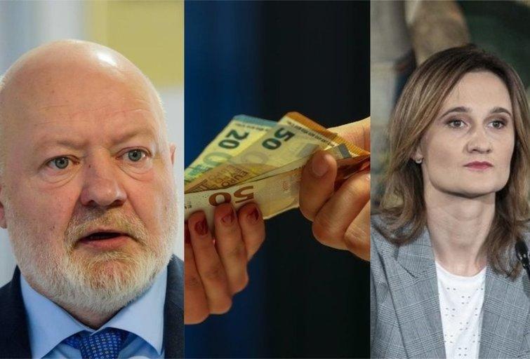 E. Gentvilas, V. Čmilytė-Nielsen (tv3.lt fotomontažas)
